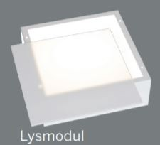 Clickbox lysmodul for grunnsett, hvit